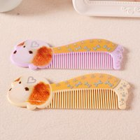 Under $30 design plastic comb - 20pcs Portable Cartoon Design Hair Comb Anti Static Plastic Hairbrushes Girls Make Up Accessories by126