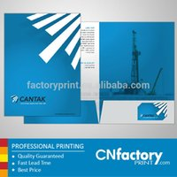 art presentation folders - Customized glossy art paper presentation folder with paper sheet pockt