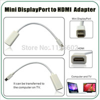 Wholesale 500pcs Mini Display Port DisplayPort DP Male to HDMI Female Mini DP to HDMI Converter Adapter Cable For Apple Macbook PC
