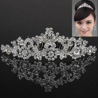 Wholesale Wedding Bridal Tiara Crystal Rhinestone Jewelry Butterfly Crown Prom Headband