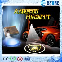 Wholesale Car Door Courtesy Welcome Ghost Shadow light Logo projector led lamp Car Door LED Light Laser Logo projector Decal courtesy Lamp M