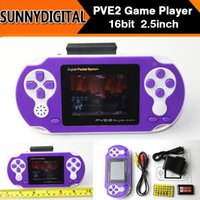 Wholesale DHL bit PVE2 Handheld Game Player PVE Station Video Game Console with Many classic Games Gifts for Children