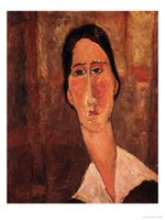 amedeo modigliani paintings - Amedeo Modigliani decoration oil painting A Portrait of Jeanne Hebuterne famous artist reproduction