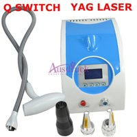 110V-220V laser tattoo removal machine - 2015 new arrival nm nm nm Q Switched Nd Yag Laser Tattoo Removal machine Eyebrow Lipline cleaning Freckle Spots removal machine