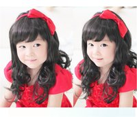 Wholesale Cheap childs wig princess black brown wig long curly natural hair female kids children wigs girls synthetic wigs cosplay