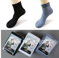 Cheap Wholesale-Free Shipping 60pcs=30pairs lot Man's Fashion Socks, 70D, solid color style, 2015 NEW
