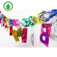 ink ribbon - Christmas holiday decoration supplies factory direct plastic ink letter garland ribbon color bar