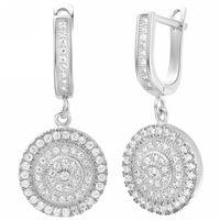 Wholesale Brazilian Virgin Hair Women Sterling Silver Wedding Crystal Drop Earrings for Earring Simulated Diamond Jewelry Fashion Earings R234