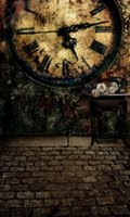 Wholesale Scenic Wall Clocks - 200cm*150cm(6.5ft*5ft) Fundo Retro sewing machine alarm clock on the wall backgrounds vinyl photography backdrop