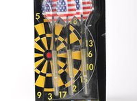 Wholesale Darts game Electroplate Copper Steel Needle Tip Dart Darts set Blister Card packing
