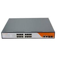 achat en gros de les commutateurs de réseau sans fil-commutateur réseau commutateur 16 ports usine commutateur poe avec 2SFP / RJ45 puissance 10/100 / 1000m de port pour les points d'accès sans fil, caméra IP, VoIP