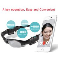 Wholesale Newest Sunglasses Bluetooth Polarized light Glasses Single channel Headset headphone handsfree for iPhone plus Samsung S5 s6