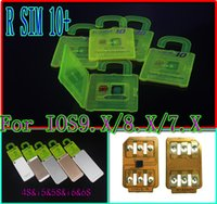 Wholesale For iphone s plus s s IOS9 IOS7 X X Unlock Card R SIM RSIM Rsim10 CDMA GSM G G SB AU SPRINT add Rpatch carrier