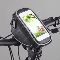 Wholesale 2015 New arrival Cycling Bike Bicycle Front Frame Handlebar Bag Pouch For in Cellphone SV005031