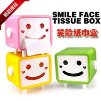 Cheap Wholesale-Home desktop coffee table tissue box tissue pumping smiley pumping paper box