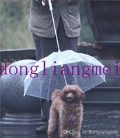 Wholesale 40pc Pet umbrella dog cat rain proof raincoat teddy puppy small dogs J127