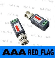 Wholesale NEW Coax CAT5 Camera CCTV Passive BNC Video Balun to UTP Transceiver Connector LLY1099