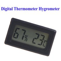 Wholesale Mini Digital LCD Thermometer Hygrometer Humidity Temperature Meter thermo hygrometer Indoor