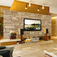 Wholesale 3D Simulation Brick Wallpaper M Environmental Protection Security PVC Wall Stickers For Cafe Living room Free DHL