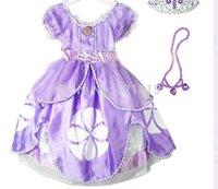 Wholesale Retail dress sofia princess Fluffy dress big petals princess Sophia Free shopping