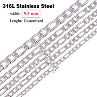 Wholesale Jewelry Mens mm Stainless Steel Figaro Chain Necklace inches inches Available Or As Customized