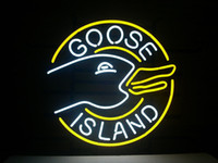 kitchen islands - NEW GOOSE ISLAND BEER LAGER REAL NEON LIGHT BEER BAR PUB SIGN C147