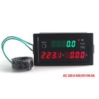 active digits - Multifunctional Digital Ammeter Voltmeter Energy Meter AC V A Four Digit Red LED Display Active Power