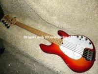 Cherry Burst Música Man StingRay 5 Bajos eléctricos de arce Bajo Nueva llegada al por mayor guitarras
