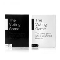 adult paper games - The Voting Game The Adult Party Game About Your Friends trading card game using white black card tow boxes match together
