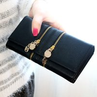 basic grey buttons - Fashion Women s Synthetic PU Leather Clutche Basic Coin Case Money Clip Hand Bags Wallet Zipper Button Solid Purse