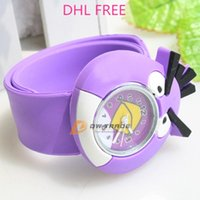 watch silicon gel - DHL children birds slap watch baby kids wristwatches EP silicon gel watch boys girls pat watch fashion birds watch J112103