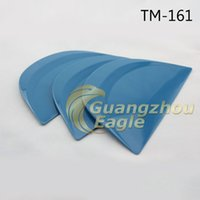 abrasion resistant plastic - 13 cm semicircle Abrasion resistant little foots blue hard cards squeegee for car Tuning with