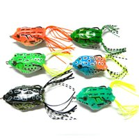leapfrog - New Topwater Frog Fishing Lures CM G Popper Leapfrog Bait Fishing Lure Crankbait Artificial Soft Frogs