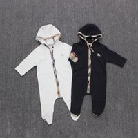 baby footies - Factory Price Newborn Baby Boys Girls Footies Organic Kids Rompers With Hoodies Baby Onesies