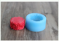 Wholesale R0140 Food grade materials DIY Silicone mold Soap mold Rose border Cake decorating Fondant Chocolate molds