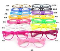ashley manning - Retro Color Unisex Punk Geek Style Clear Lens Glasses Sunglasses Ashley Plain Glasses Sunglasses Candy Color