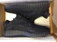 Wholesale YEEZY BOOST IS BACK IN BLACK Running Shoes Trainers Shoes With Box Sports Shoes Kanye West Yeezy Dropshipping Accepted
