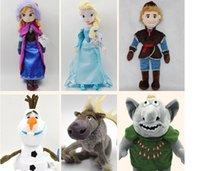 Wholesale 50cm Princess Elsa Anna Olaf Sven Kristoff Trolls plush toys dolls Cheap Christmas Gift set