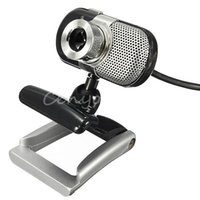 Wholesale NEW Top Quality LED USB Mega CMOS HD Degree Rotation Webcam Web Cam Camera with Mic Microphone For PC Laptop Skype order lt no
