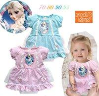 Wholesale 2015 newborn clothes frozen baby dress Frozen baby rompers baby girl dresses rompers for babies piece