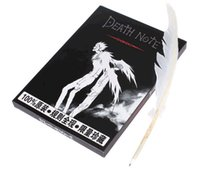 Wholesale New Death Note Cosplay Notebook With Feather Pen Book Anime Writing Journal Notepads Office School Supplies