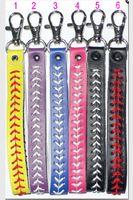 Wholesale 2015 baseball keychain fastpitch softball accessories baseball seam keychains