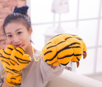 Wholesale Winter Warm lovely animal paw gloves Full Finger Cartoon Gloves Cute Unisex Animal Mitten gift