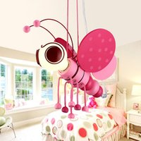 bee protection - Pendant lamp pink blue bees style children lamp V E27 holder No pollution Not dazzling environmental protection materia Children s place