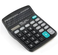 Wholesale Deli Calculator Rechner Classical Digit in Solar Battery Office Home Electronic Calculator Big Button Full Function order lt no tr