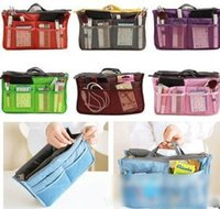 Wholesale Multi colored Makeup Bags Korean Style Ladies Handbag Girls Bag Organizer Travel Mate Women Double Zipper Meshy Storage Bag I3336
