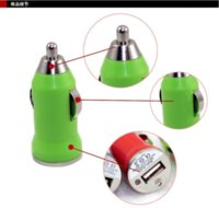 Wholesale Colorful Bullet Mini USB Car Charger Universal Adapter for iphone S S C G S Samsung Galaxy S3 S4 S5 Cell Phone PDA MP3 Free DHL