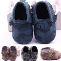 Wholesale 2015 NEW baby camouflage soft leather moccs baby booties toddler shoes ZC40