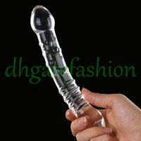 Wholesale Sex Products Double Ended Crystal Penis Butt Plug Glass Dildo Adult Sexy Toy For Female Glass Gay Sex Toys