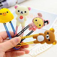 Wholesale 1Pc Cute Large Rilakkuma Chicken Youyou Rabbit Paper Clip Bookmark Folder Office School Supplies Desk Accessories